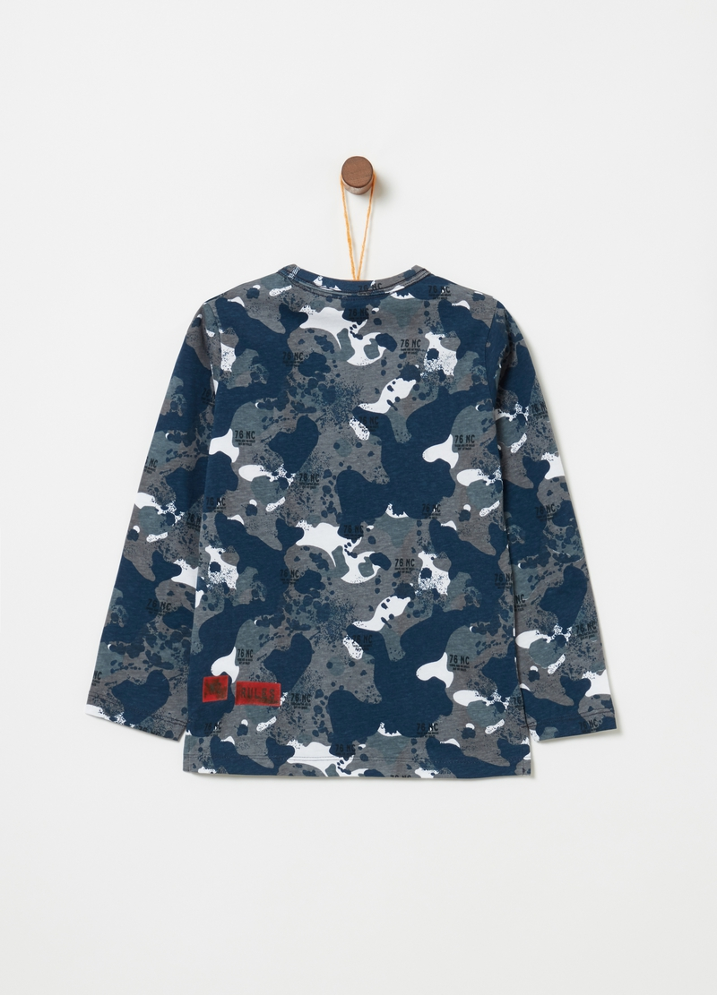 T-shirt puro cotone fantasia camouflage image number null