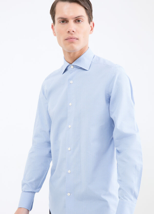 Slim fit check cotton shirt | OVS