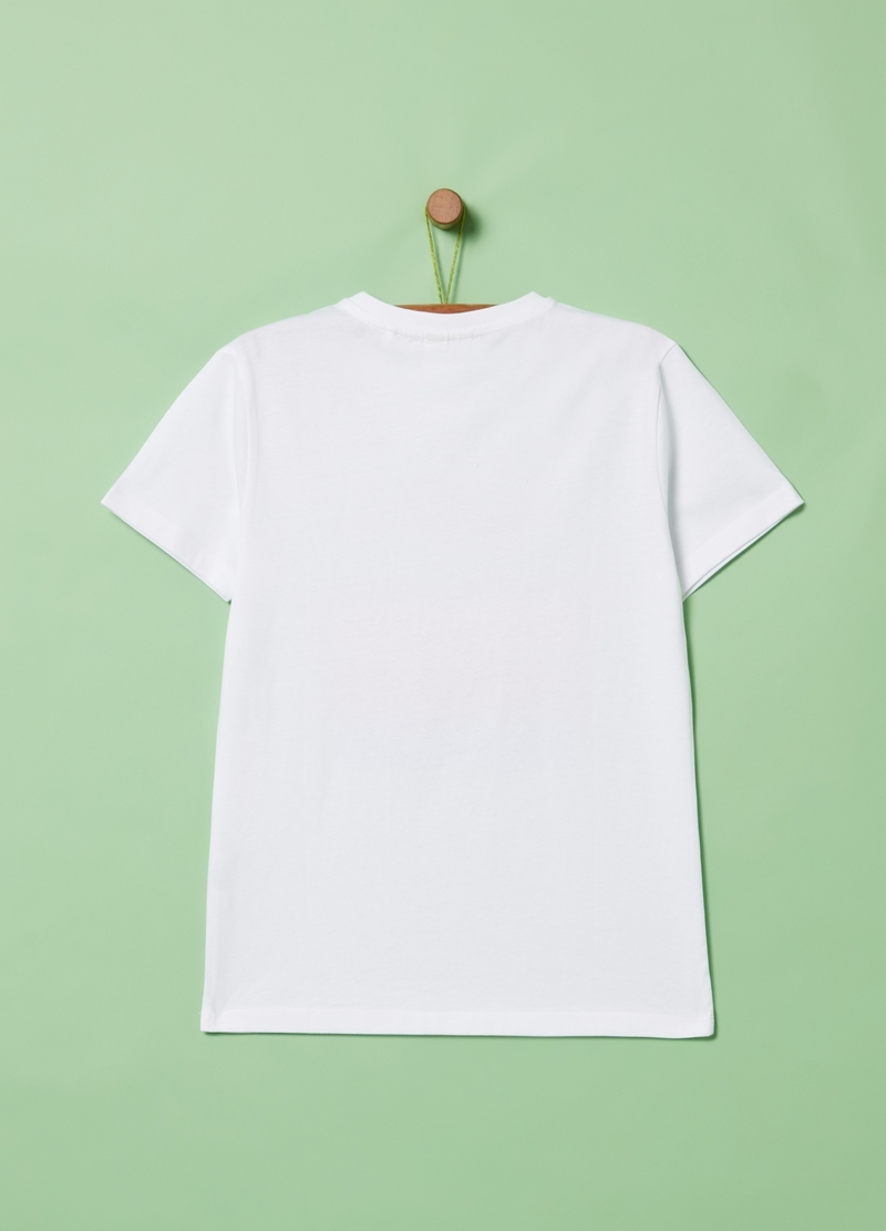 T-shirt puro cotone con stampa lettering image number null
