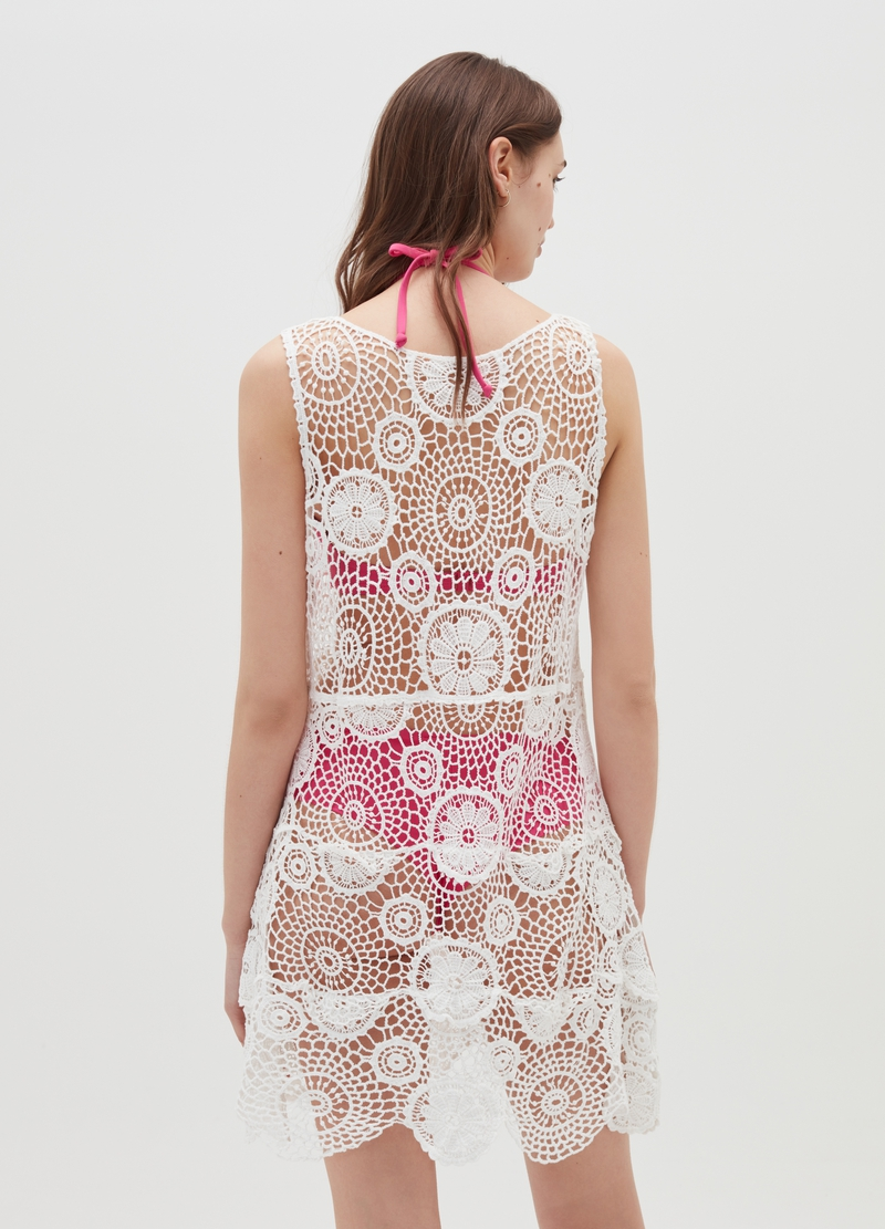 Beach cover-up dress in macramè image number null