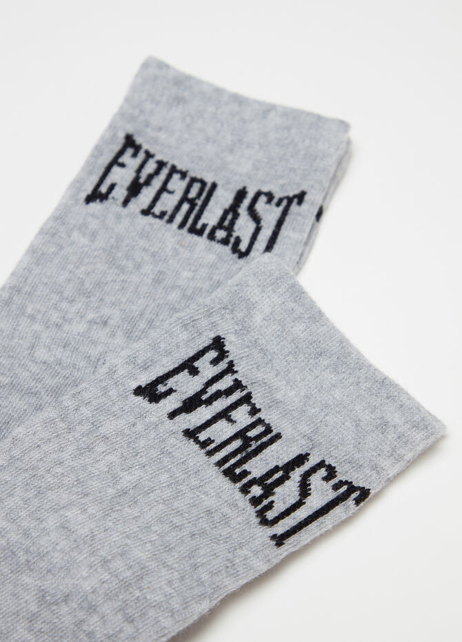 Short mélange socks with Everlast embroidery