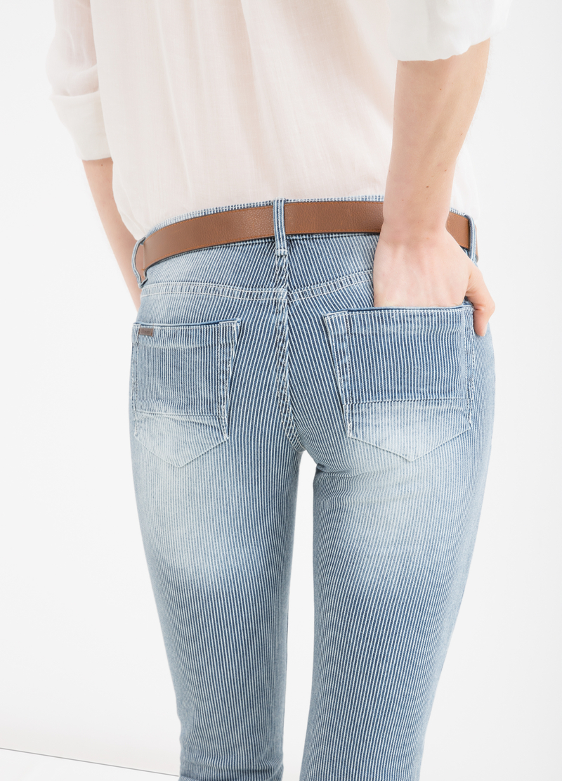 Jeans stretch fantasia a righe image number null