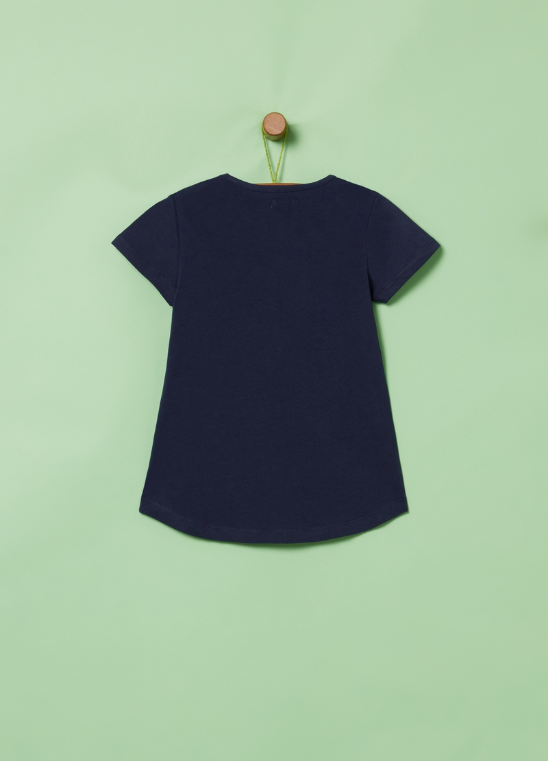 T-shirt in cotone stretch con stampa image number null