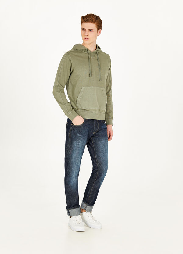 100% cotton sweatshirt with pouch pocket