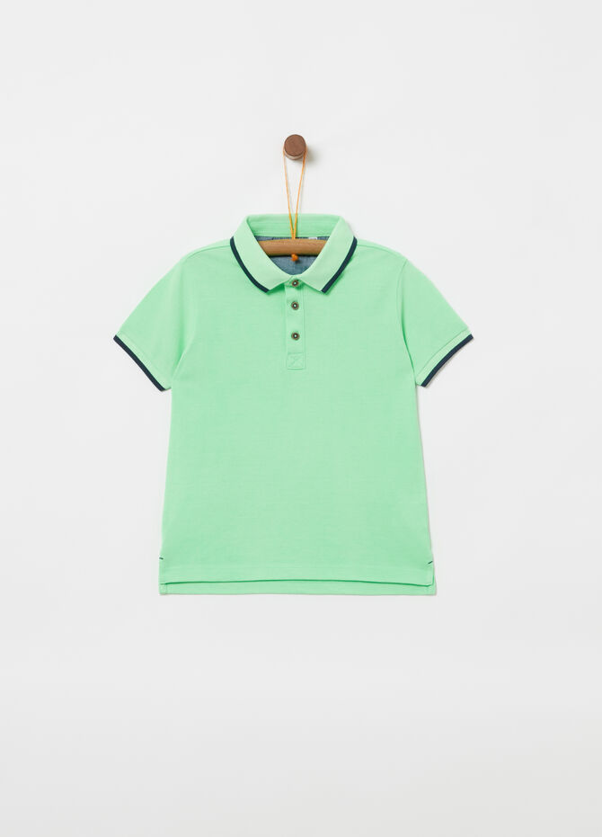 Organic cotton piquet polo shirt