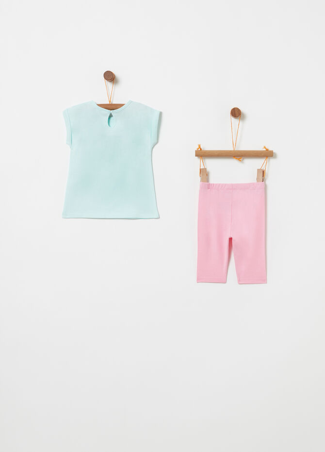 Jogging set BCI t-shirt e leggings glitter
