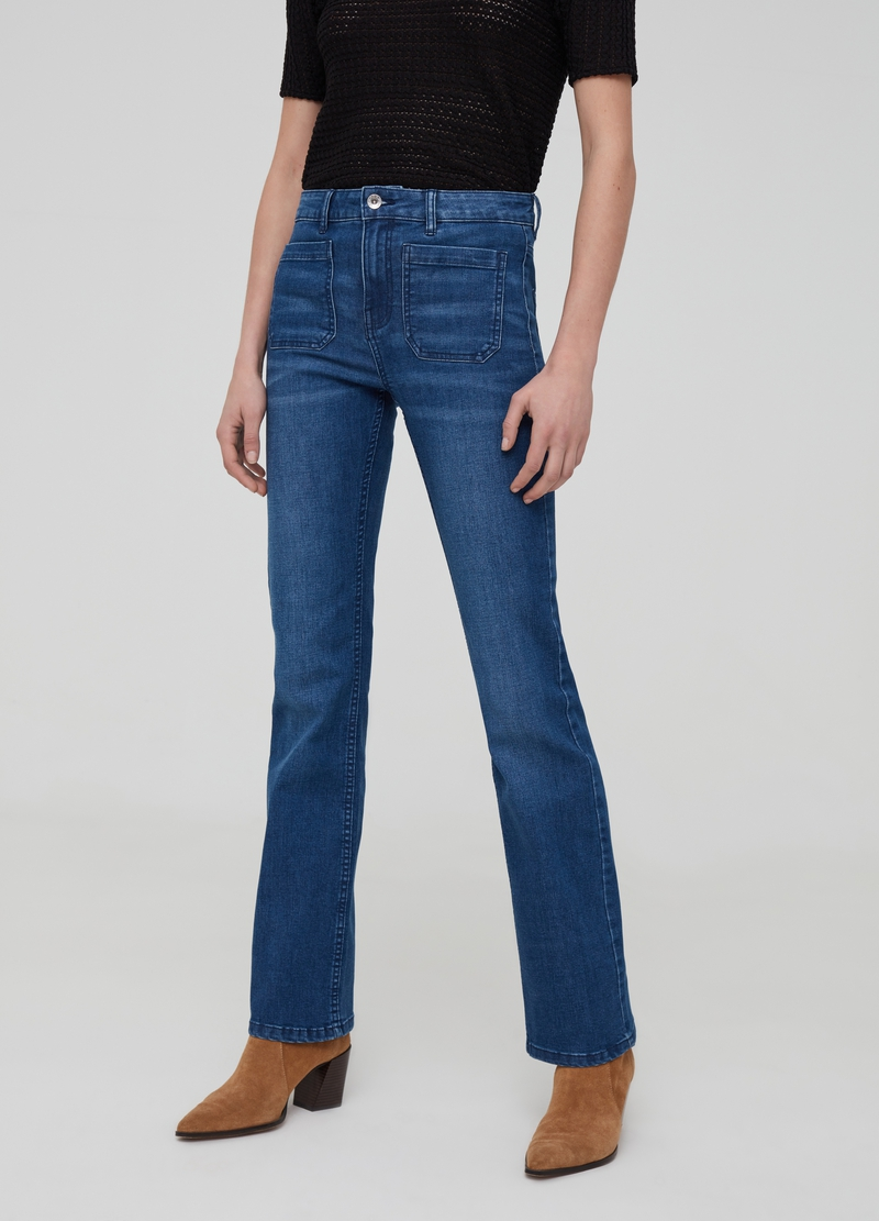 Jeans bootcut fit stretch image number null