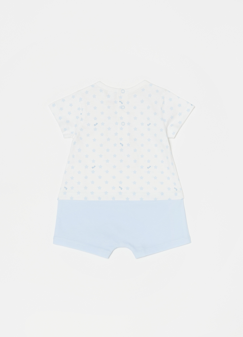 Romper suit with Trudi teddy bear print image number null