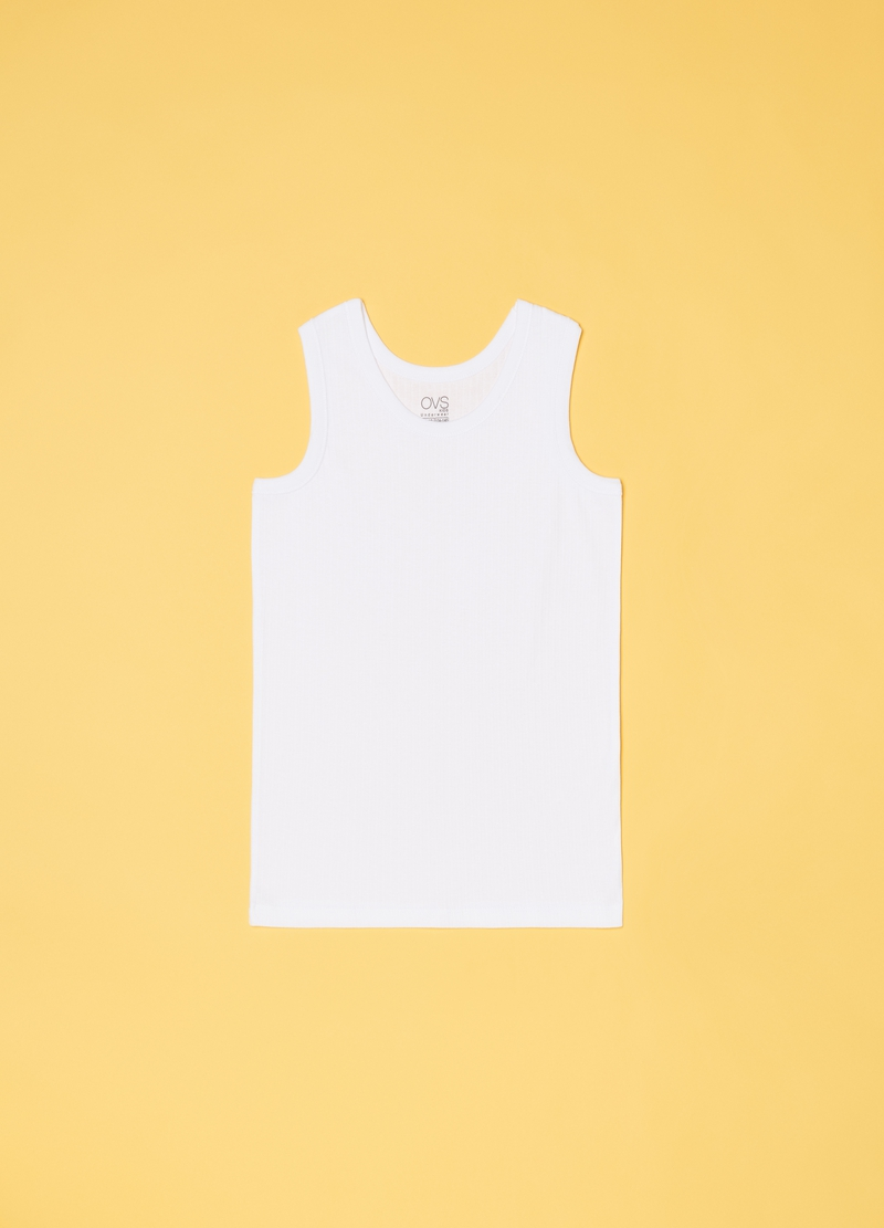 Warm cotton racerback top image number null