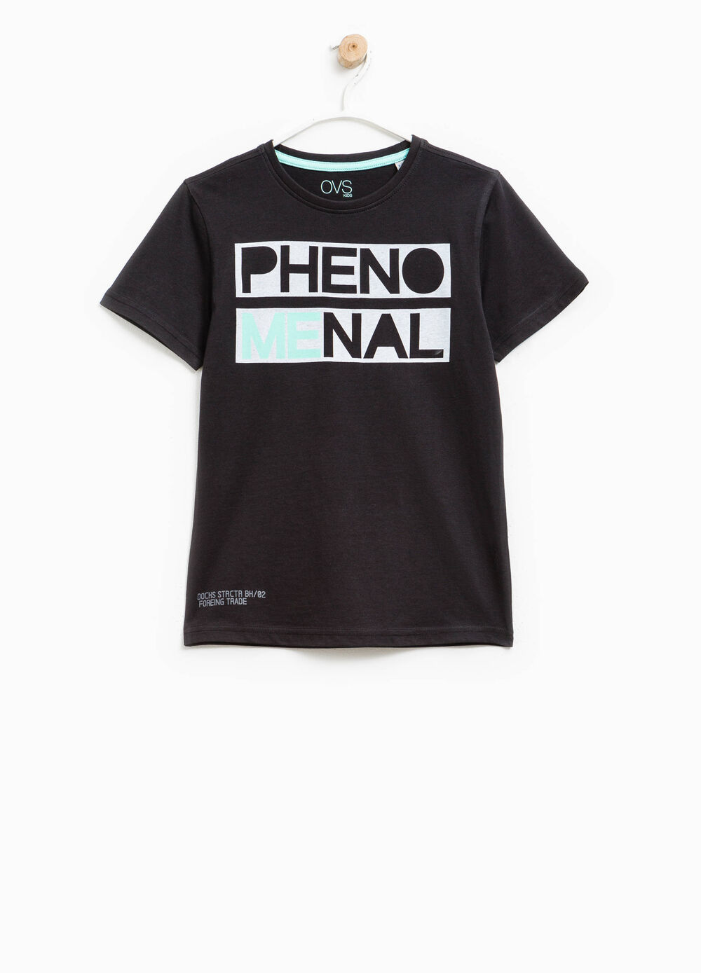 T-shirt in cotone con stampa lettering