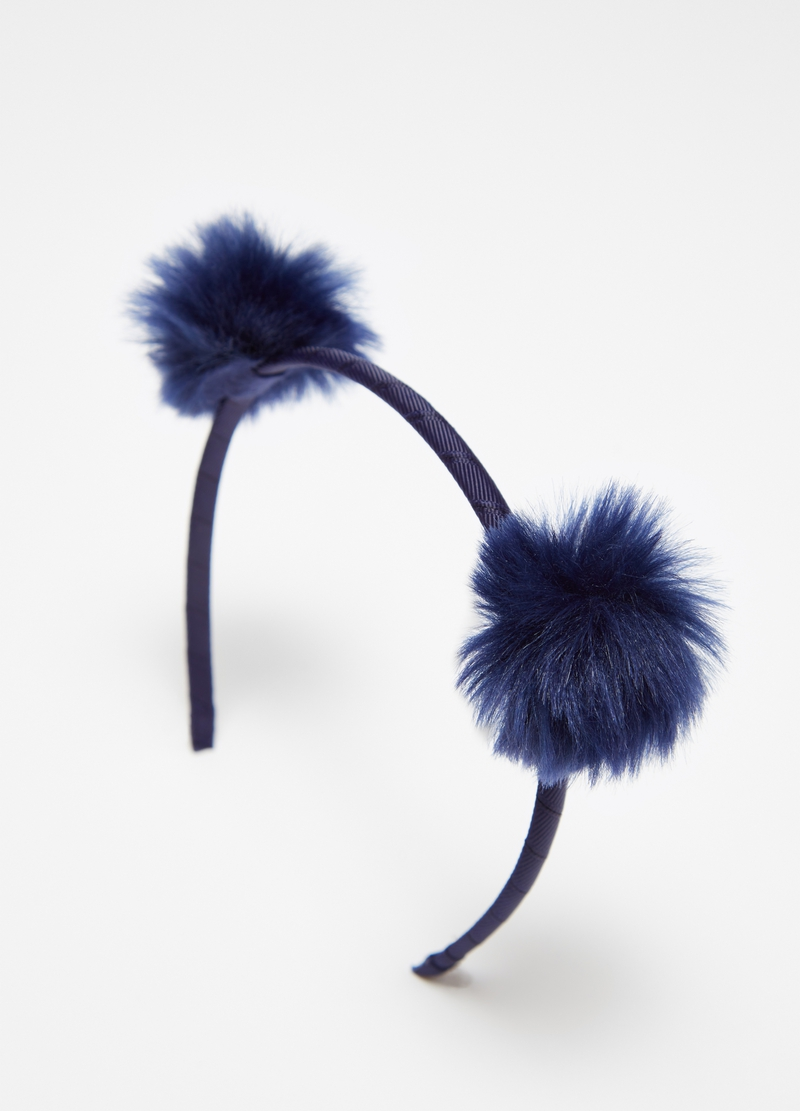 Thin Alice band with pompoms image number null