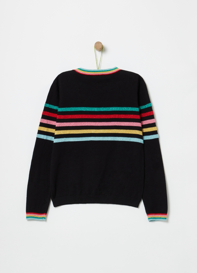 Top with stripes and lurex image number null