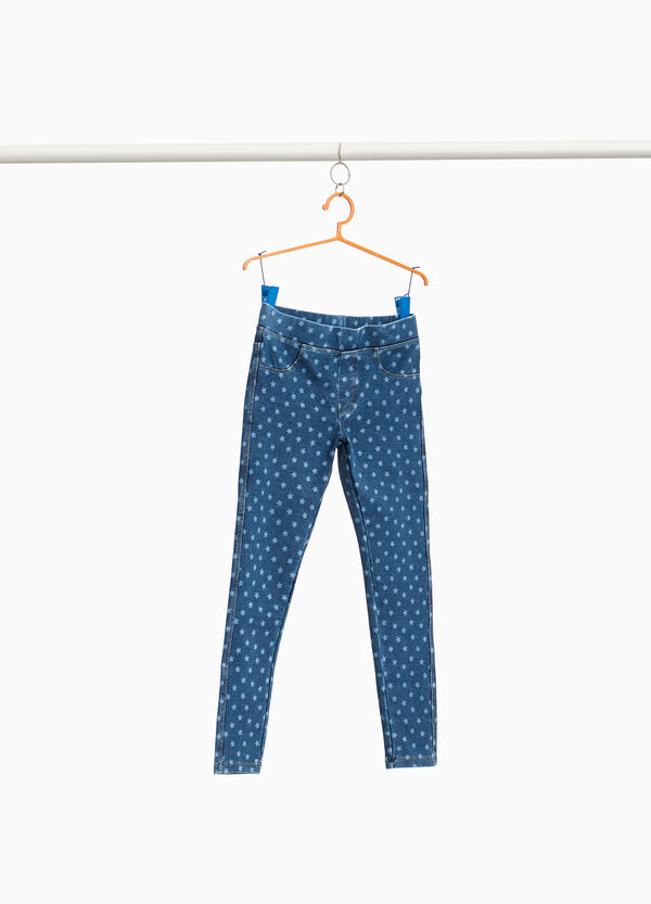 Stretch jeggings with stars