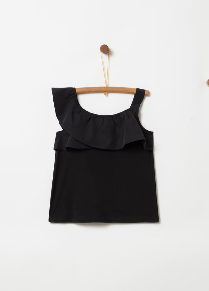 100% cotton top with shoulder strap and frills