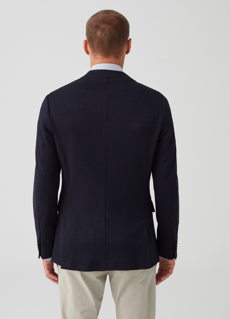 Two-button jacket with micro pattern image number null