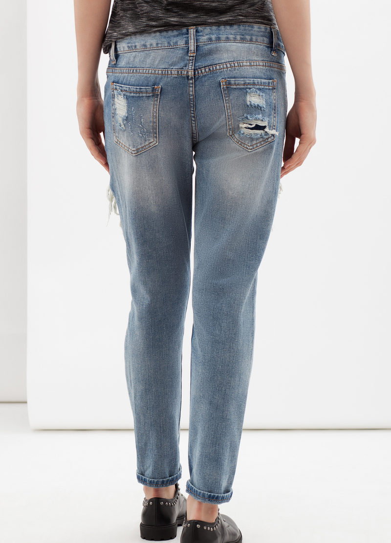 Jeans effetto used image number null