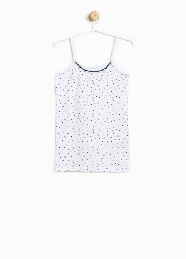 Organic cotton under top with stars | OVS