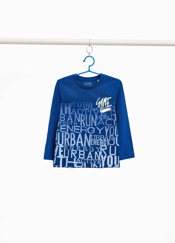 T-shirt con maxi stampa lettering