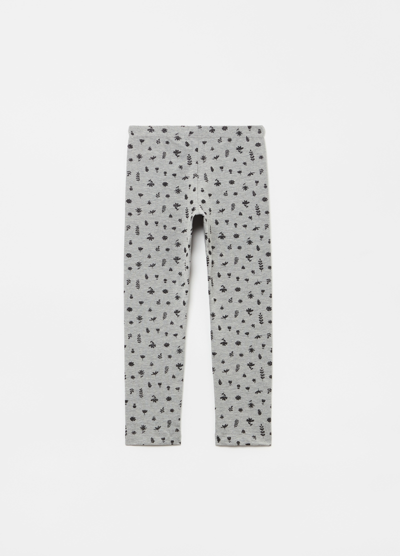 Leggings con stampa foliage all-over image number null