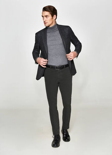 Rumford micro-pattern wool jacket