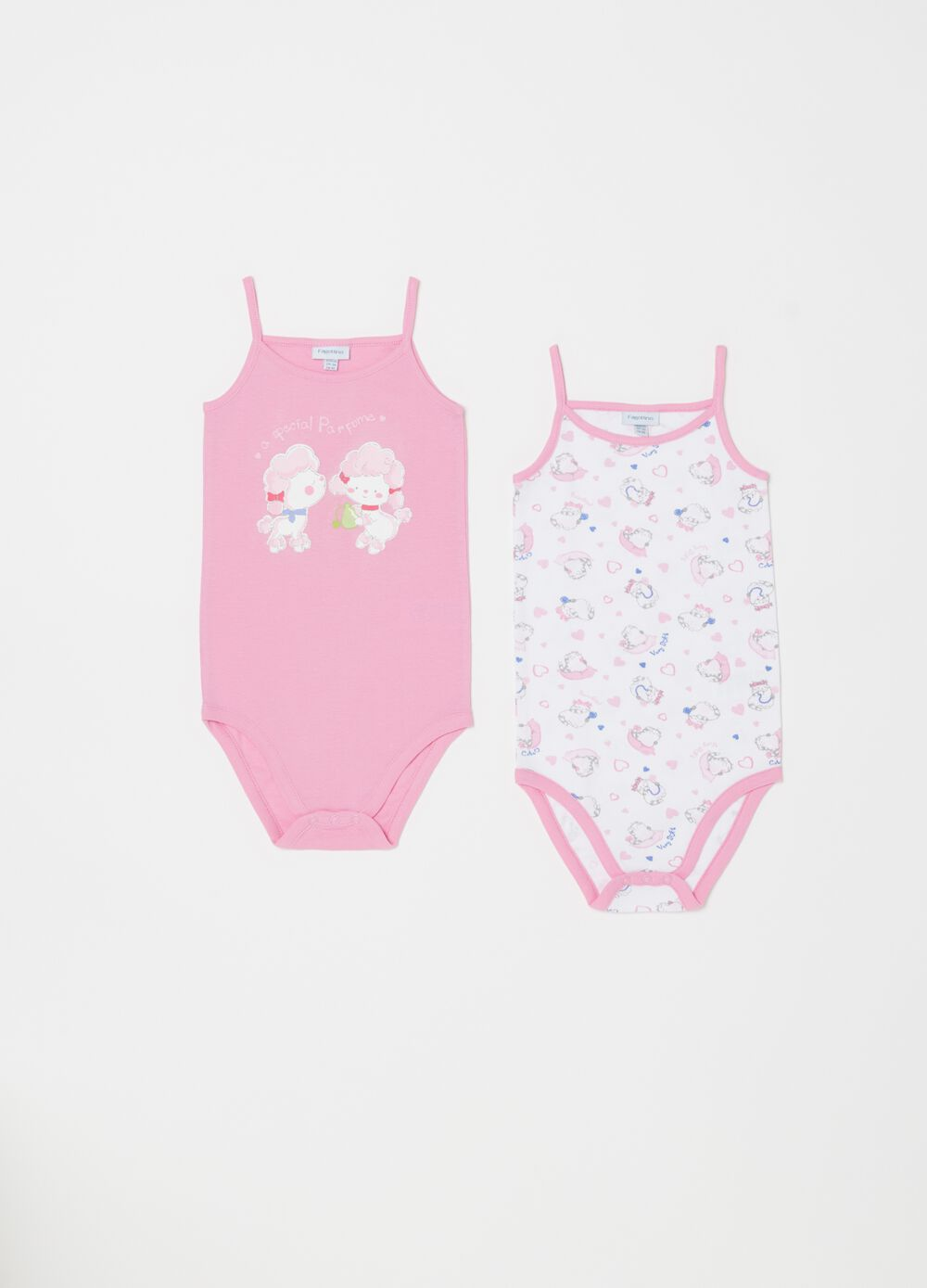Set due body biocotton stampa e fantasia