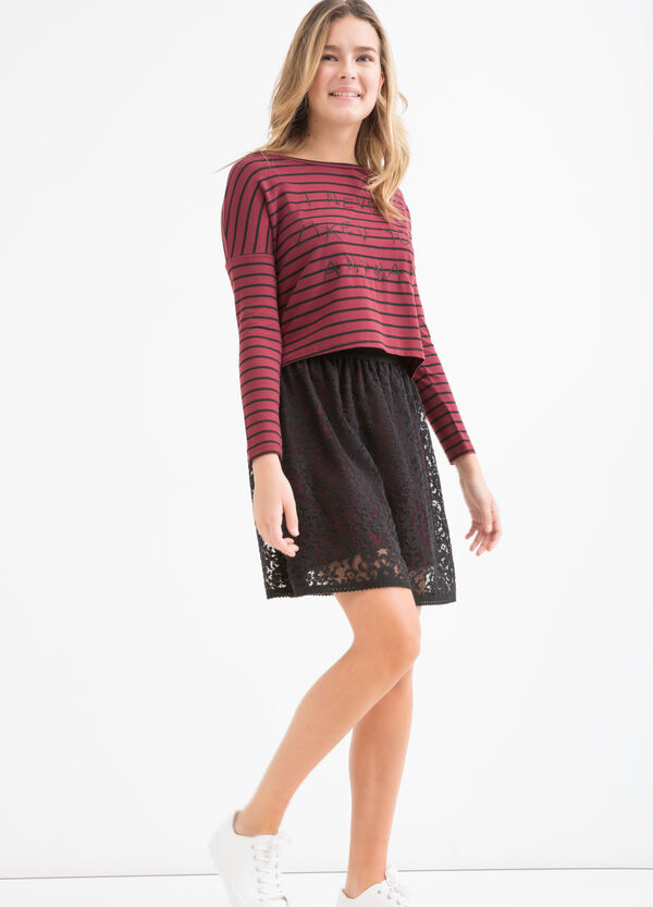 Teen lined lace skirt | OVS