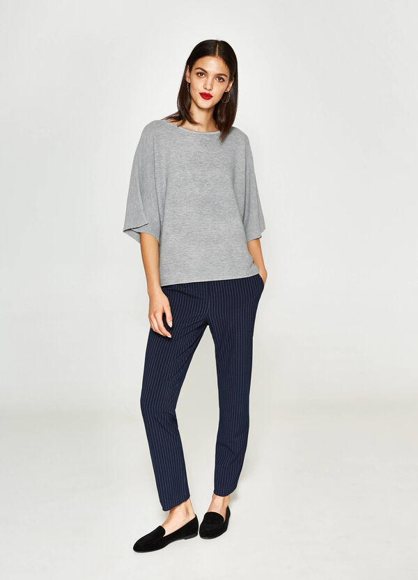Wool and viscose crop pullover | OVS