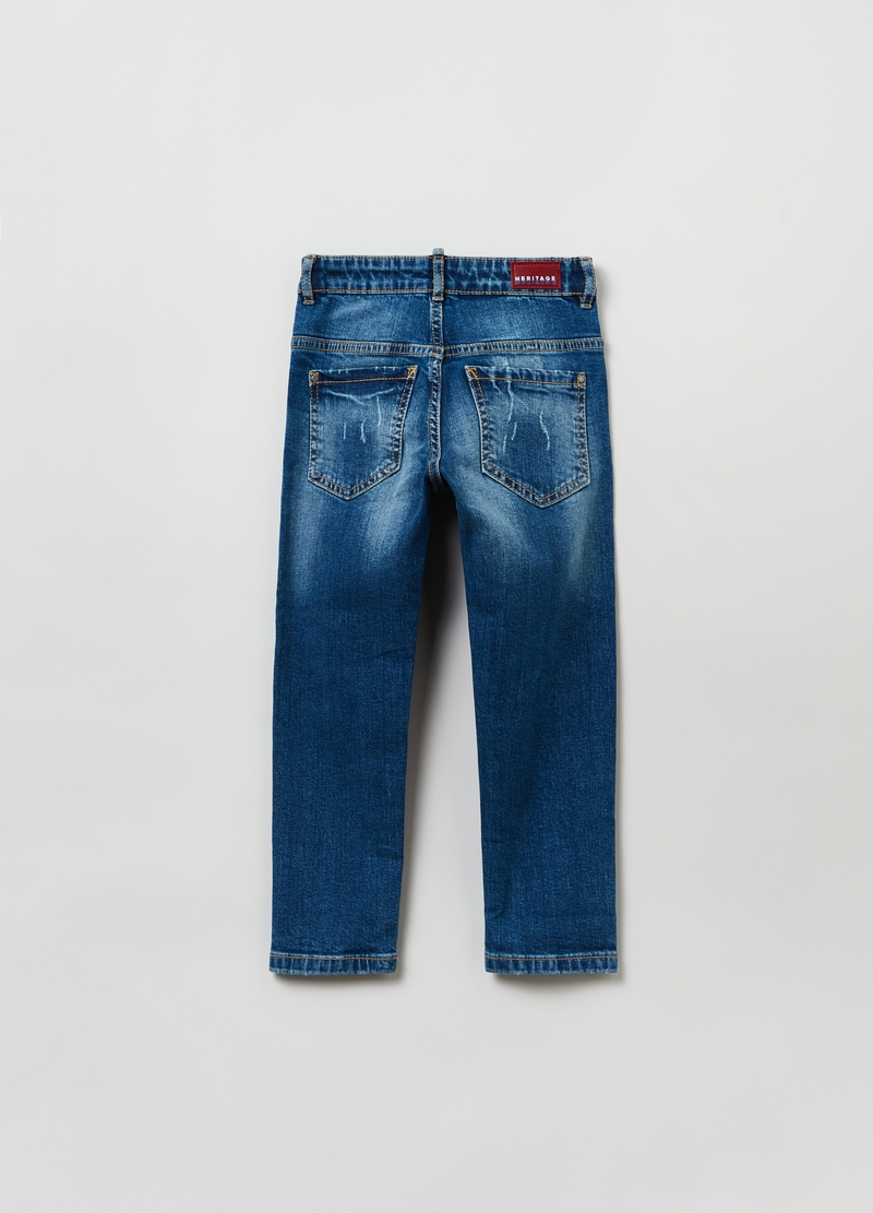 Jeans regular fit con scoloriture image number null