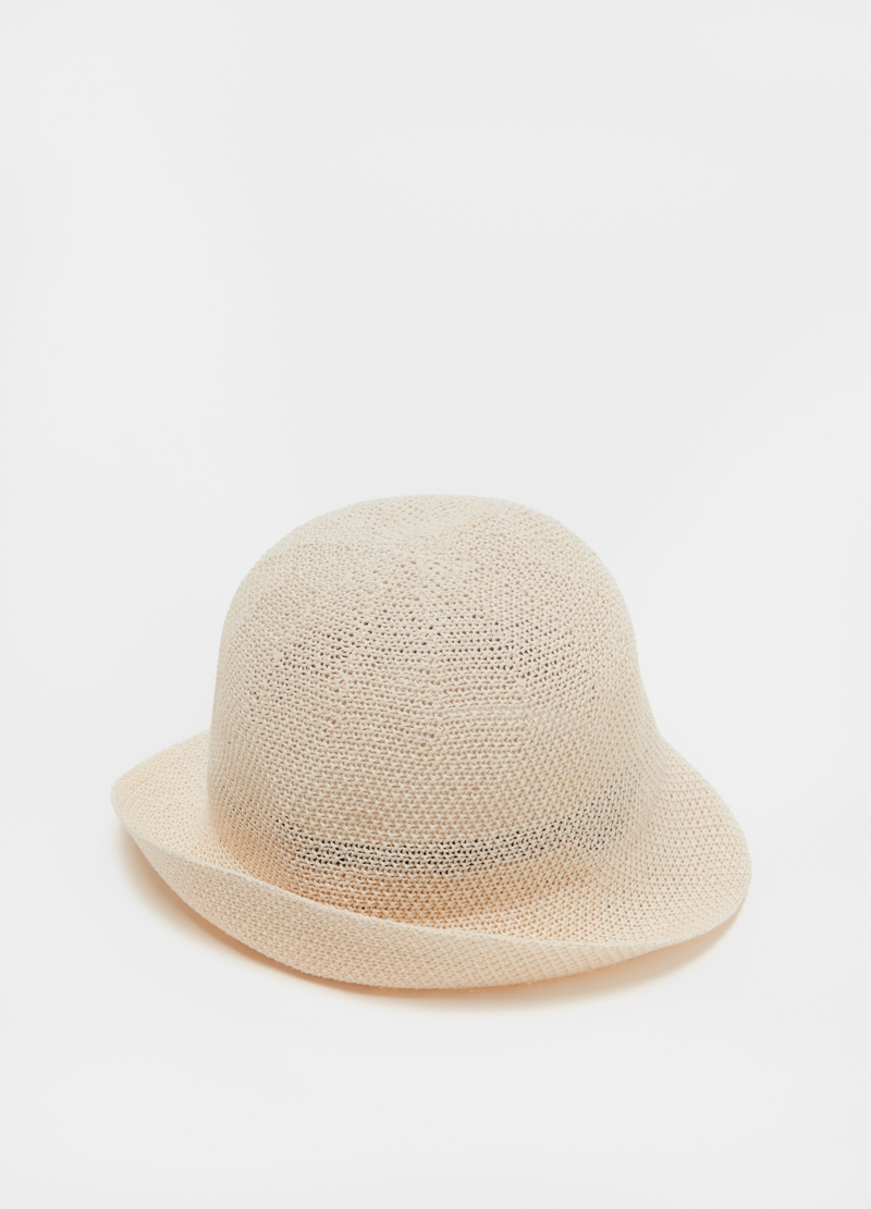 Linen blend cloche hat image number null