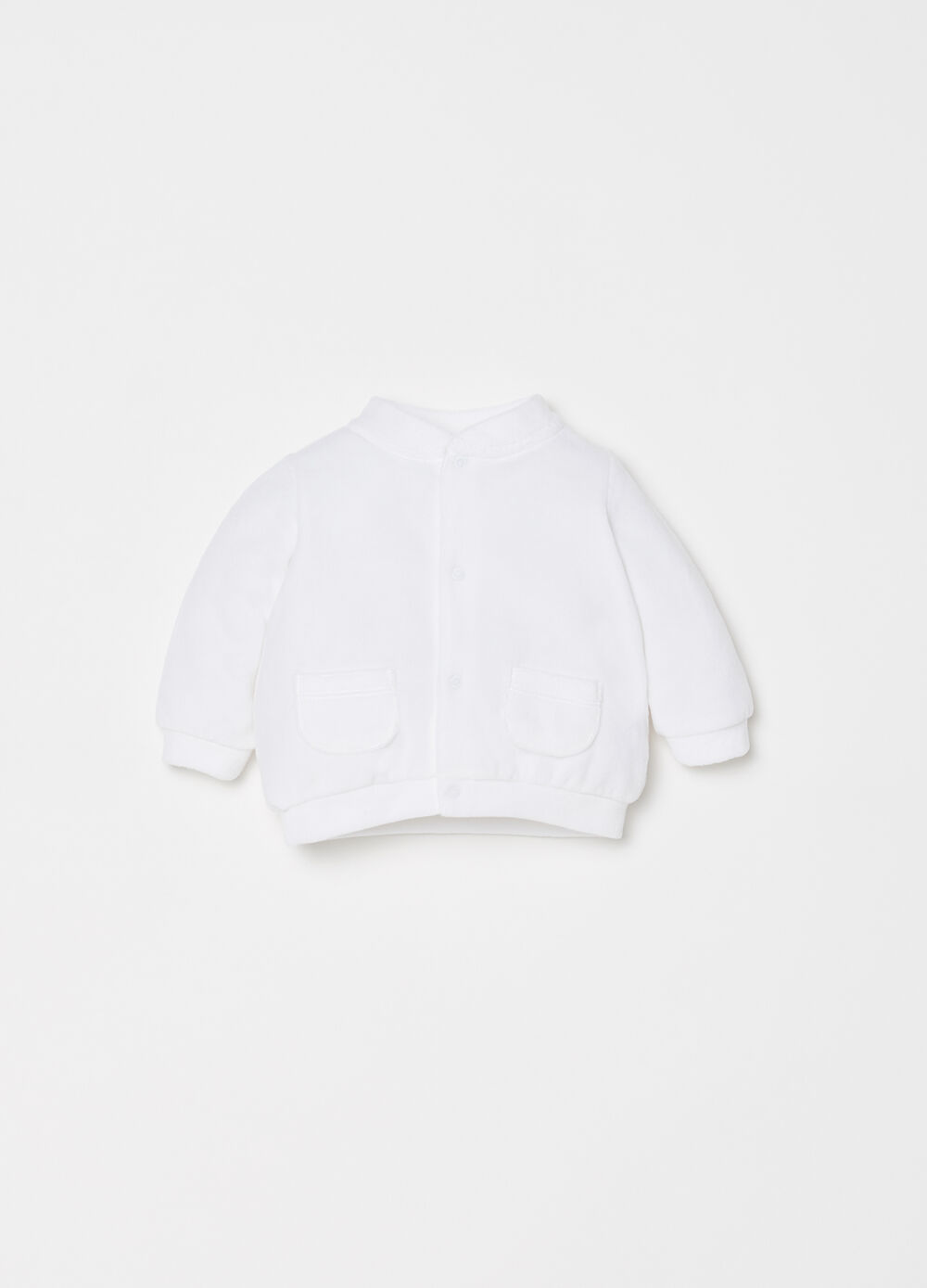 Knitted chenille sweatshirt with pockets