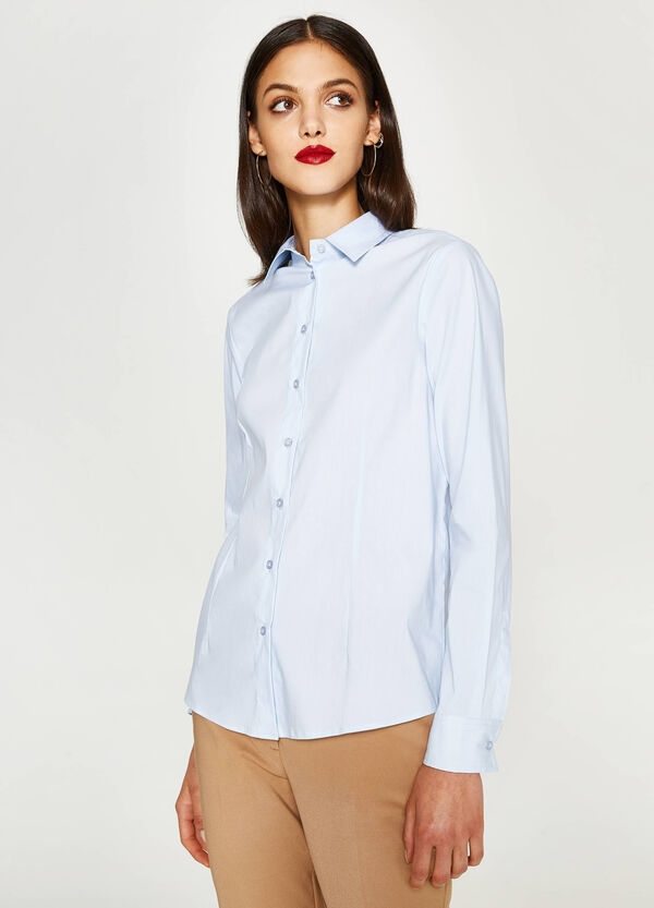 Camicia in misto cotone stretch