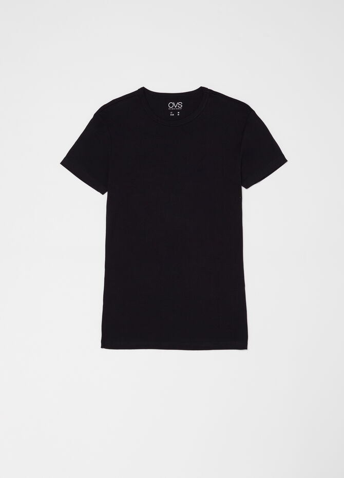 Two-pack crew neck T-shirts in ribbed cotton