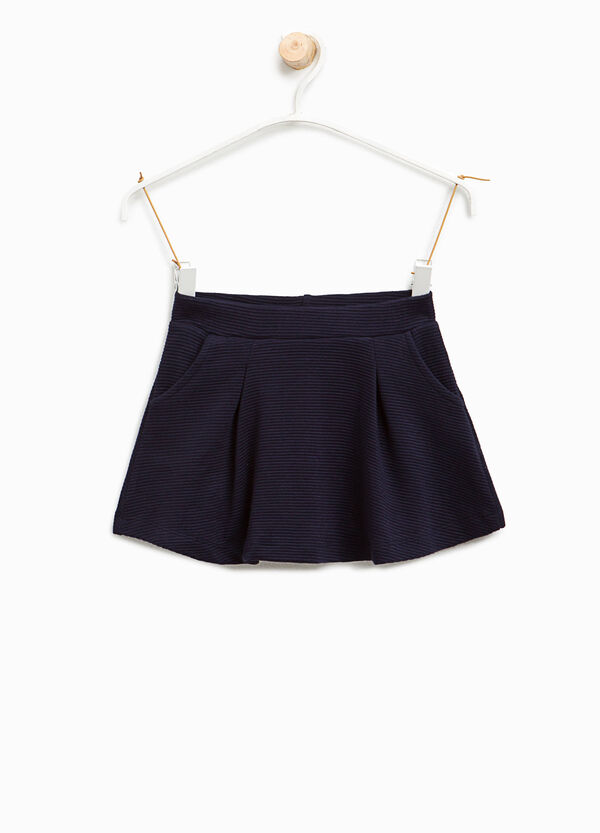 Viscose skirt with striped weave | OVS