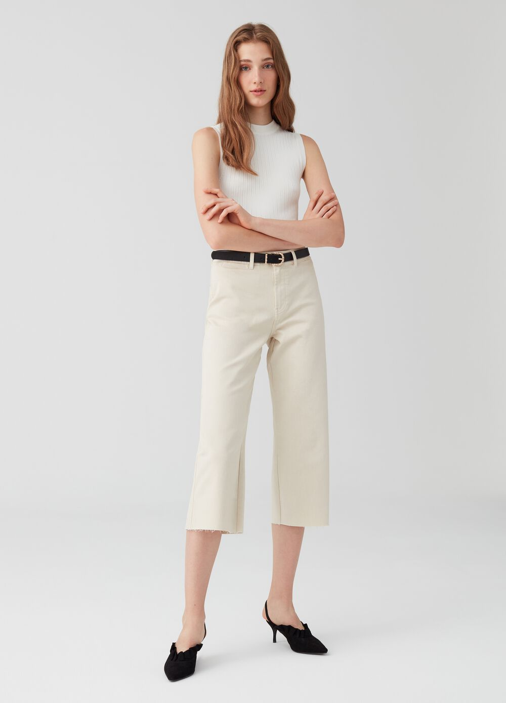 Pantaloni culotte bull in biocotton stretch