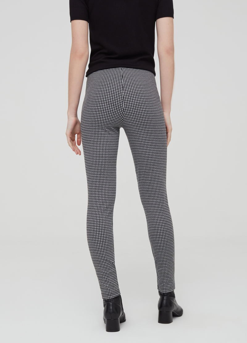 Leggings con zip a quadretti image number null