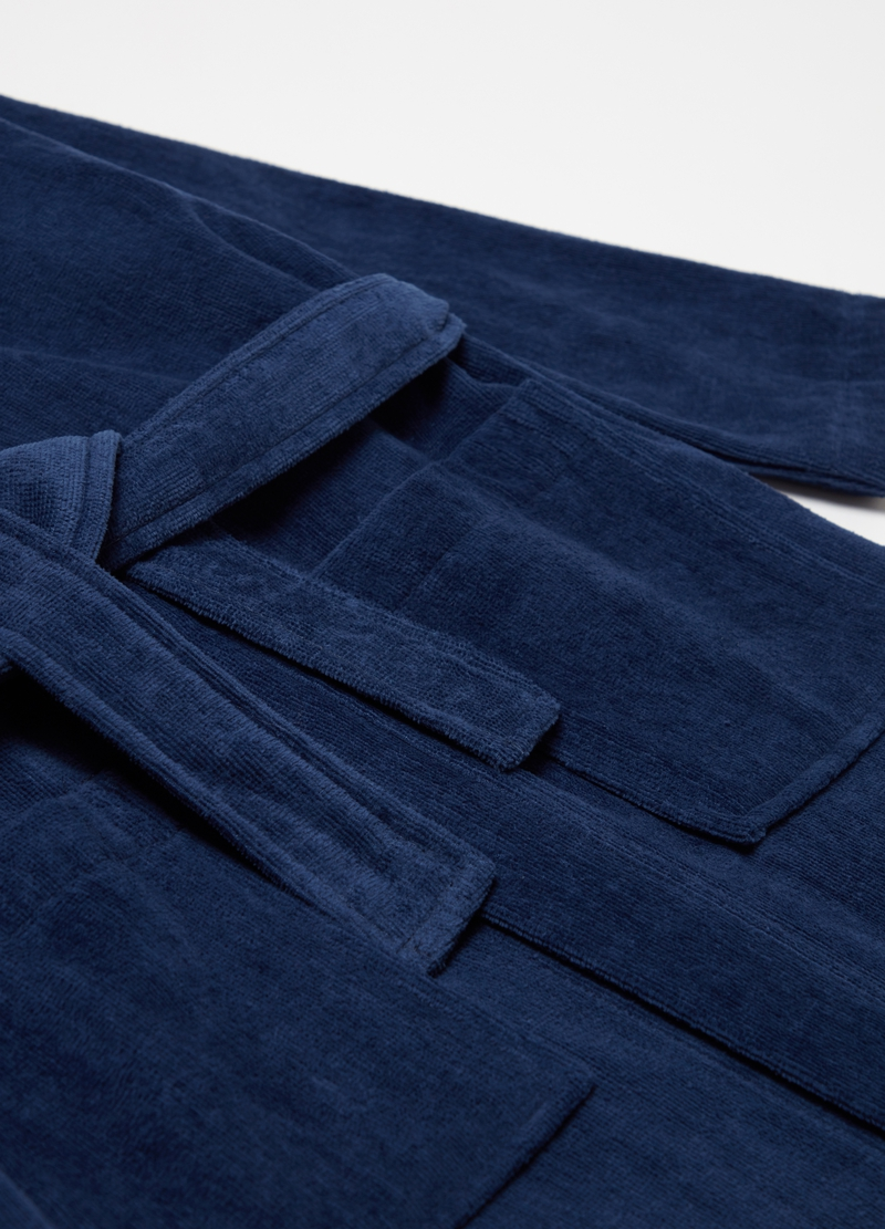 100% cotton robe with pockets image number null