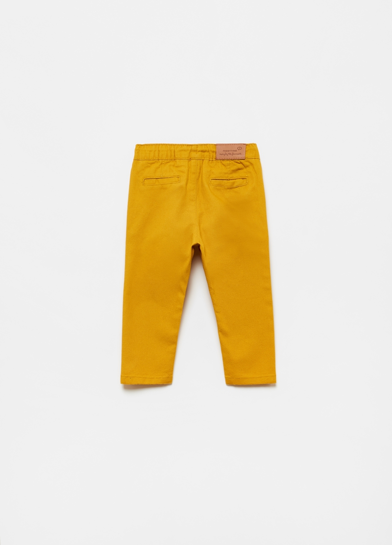 Pantaloni puro cotone con coulisse image number null