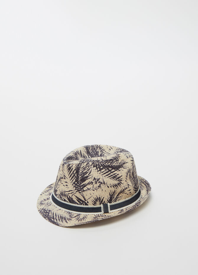 Fedora hat with mesh weave and pattern