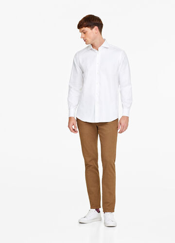 Regular-fit micro-weave shirt