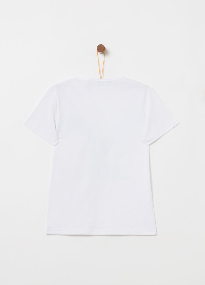 Jersey T-shirt with print and application
