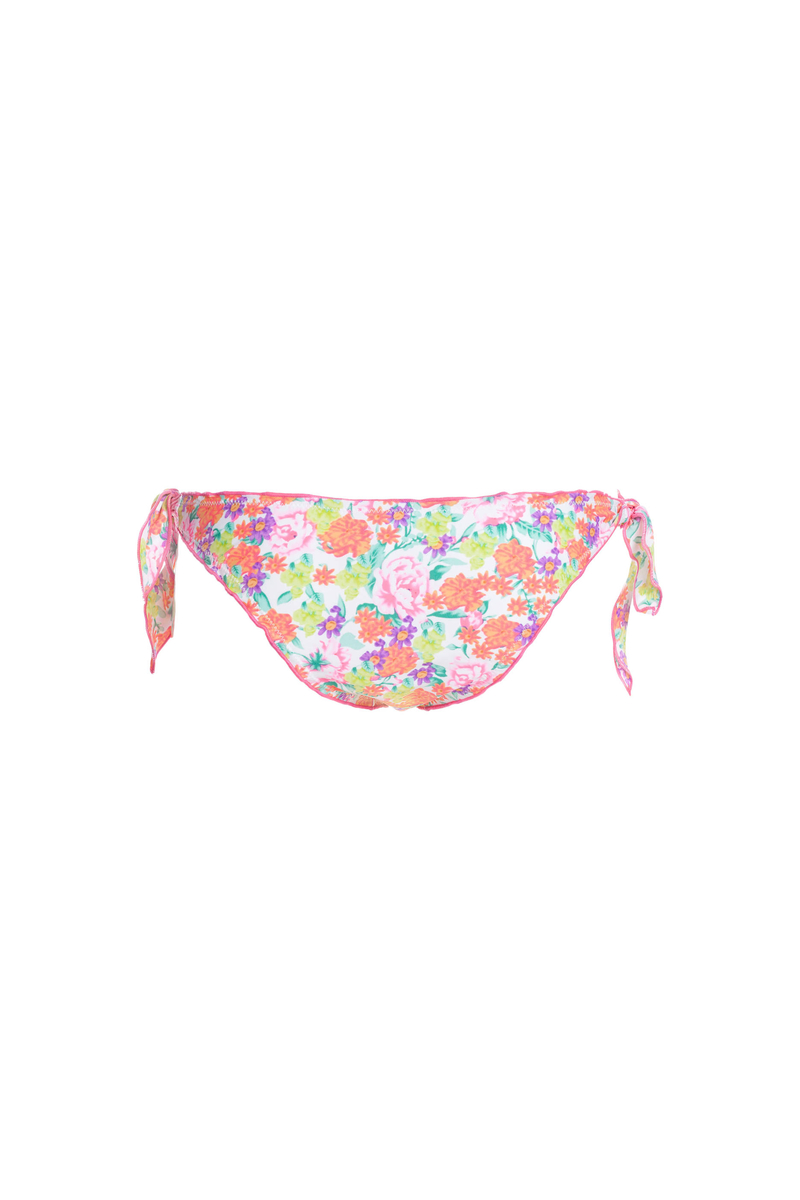 Side-tie floral bikini bottoms image number null