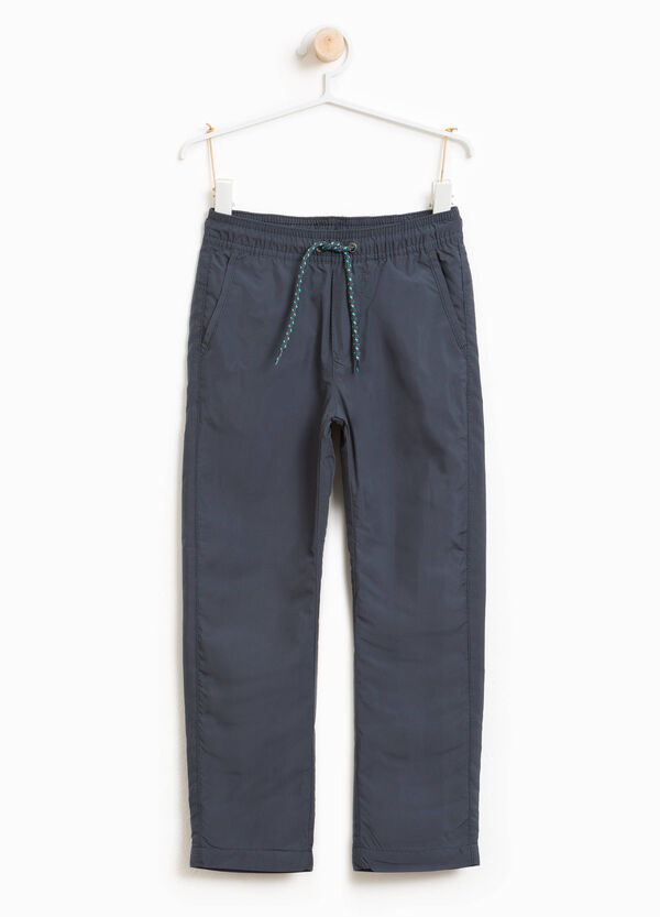 Solid colour trousers with drawstring | OVS