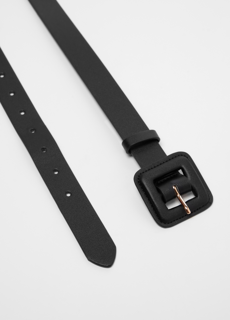 Solid colour belt with square buckle image number null
