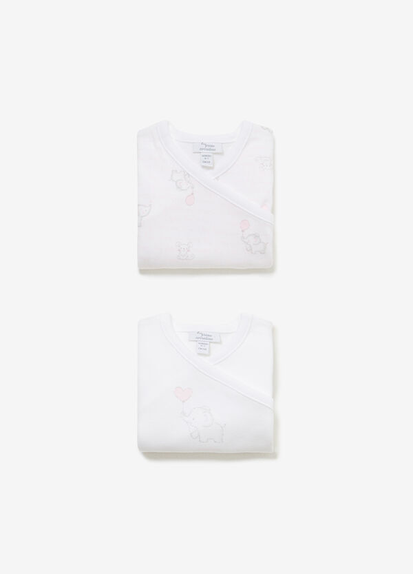 Two-pack patterned cotton bodysuits