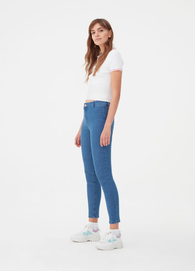 Jeggings superskinny fit stretch vita alta