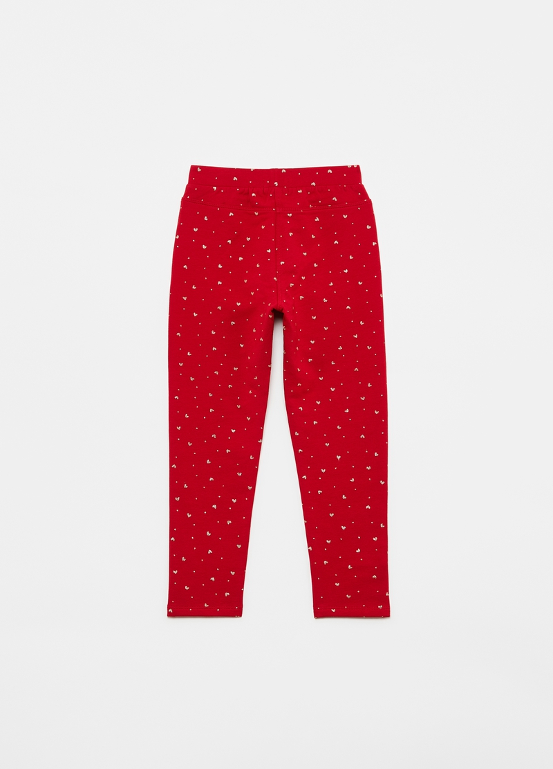 Treggings stampa cuoricini all-over image number null