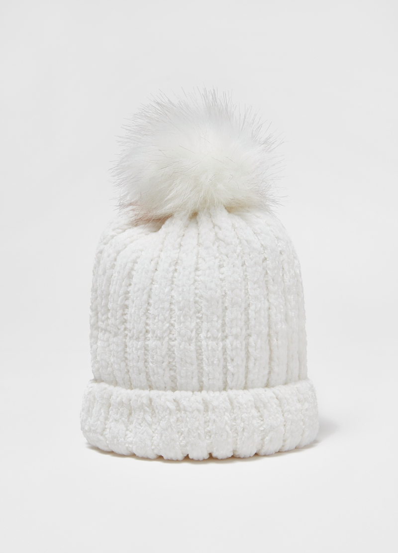 Hat with pompom and lurex image number null