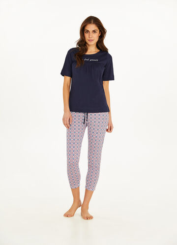 Pyjamas with lettering print and pattern