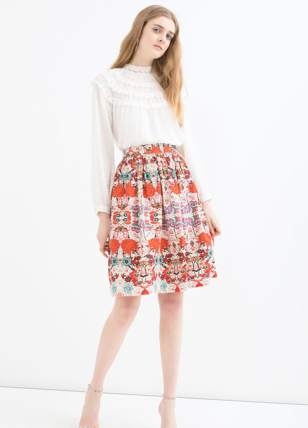 100% cotton patterned skirt