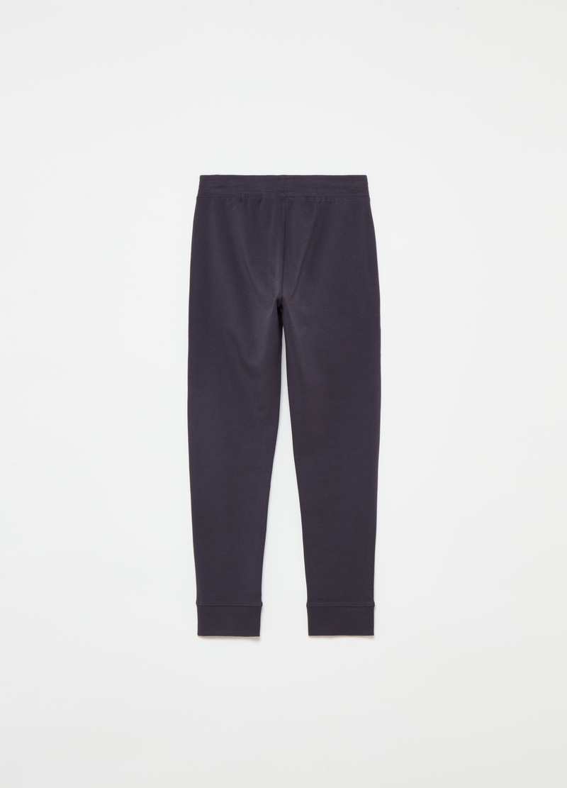 Joggers in cotone stretch con stampa image number null